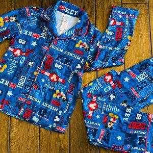 Disney Boys' 2pc Mickey Pajama Set